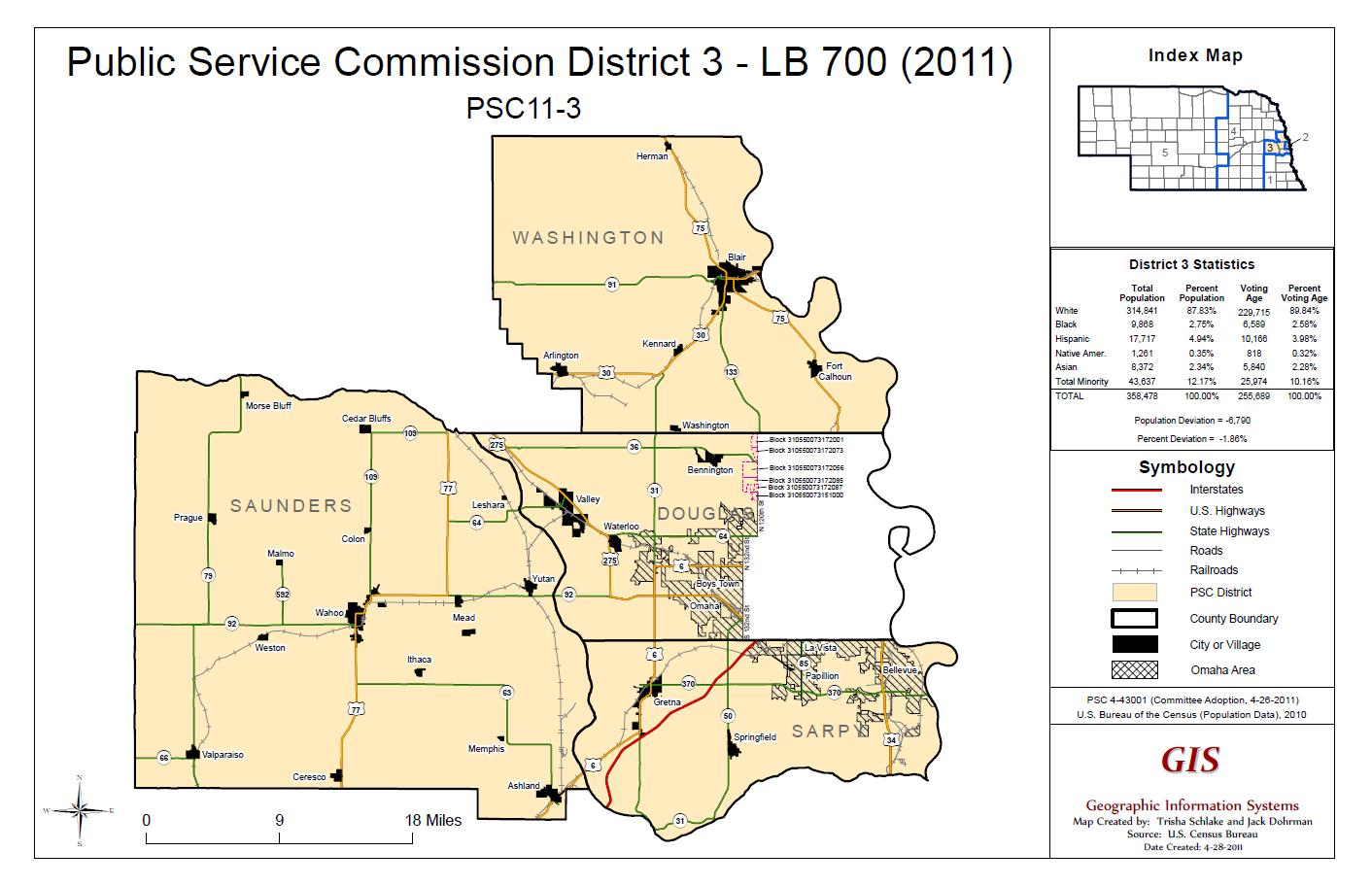 PSC District 3 Map