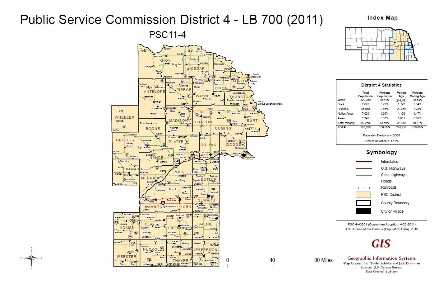 PSC District 4 Map