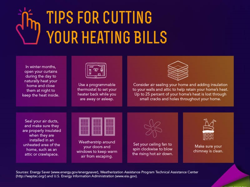 Heating Bill Tips Graphic