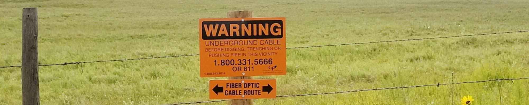Dig Warning Sign